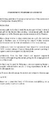 WPC Endowment Purpose Statement