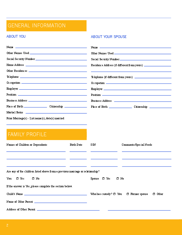 {Estate planning worksheet – Estate Planning Worksheet