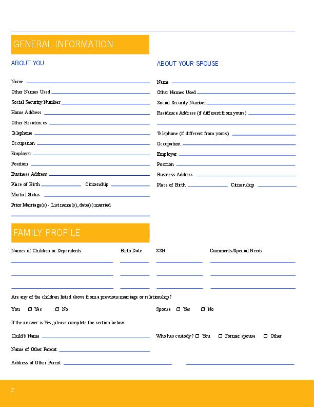 Printables Estate Planning Worksheet estate planning worksheet front front